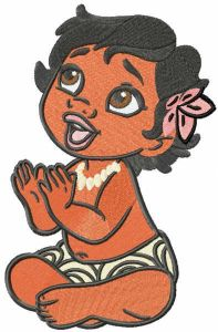 Baby Moana embroidery design