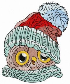 Baby owl 2 embroidery design