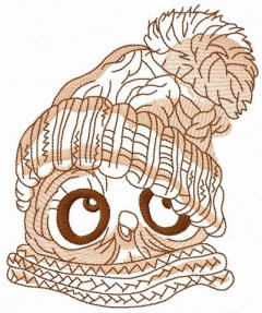 Baby owl embroidery design 3