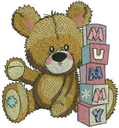 Baby teddy bear 2 embroidery design