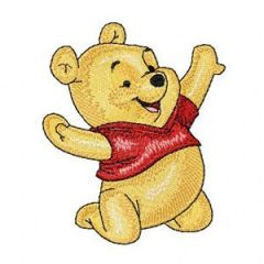 Baby Pooh Happy embroidery design