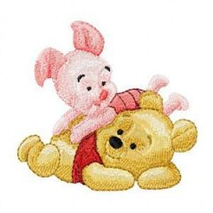 Baby Pooh and Piglet 2 embroidery design