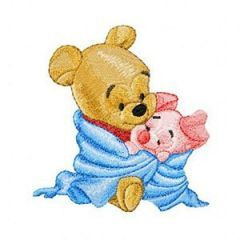 Baby Pooh and Piglet embroidery design 3