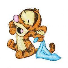 Baby Tigger 1 embroidery design