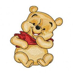Funny Baby Pooh embroidery design
