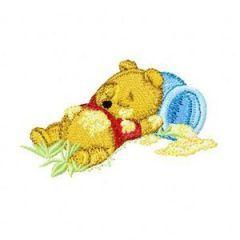 Sleep Baby Pooh embroidery design