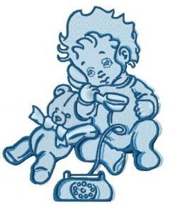 Baby's call 3 embroidery design