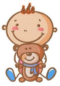 Baby's playtime 4 embroidery design