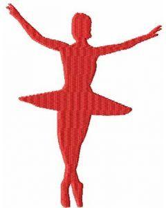 Ballerina 8 embroidery design