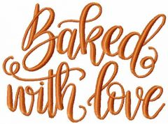 Baked with love free embroidery design