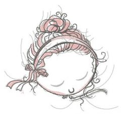 Ballerina's dreams embroidery design