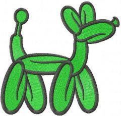 Balloon dog free embroidery design