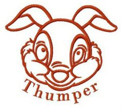Bambi Thumper embroidery design