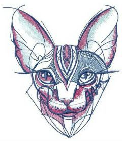 Bambino cat embroidery design