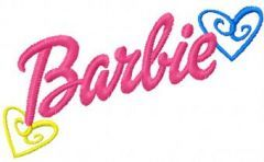 Barbie logo embroidery design