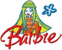 Barbie child's art embroidery design
