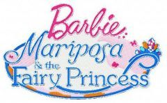 Barbie: Mariposa and the Fairy Princess embroidery design