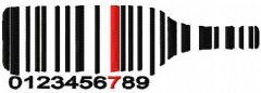 Bottle barcode embroidery design