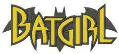 Batgirl silhouette embroidery design