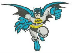 Batman catching you embroidery design