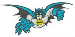 Batman is flying embroidery design