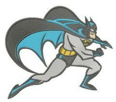 Batman sneaks embroidery design