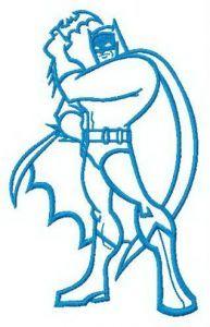 Batman's attack embroidery design
