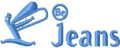 Be Jeans Logo embroidery design