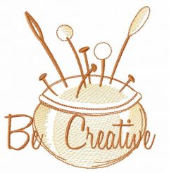 Be creative embroidery design