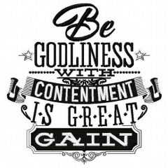 Be godliness embroidery design