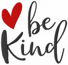 Be kind free embroidery design
