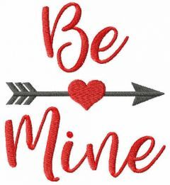 Be mine free embroidery design