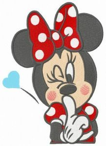 Be quite Minnie embroidery design