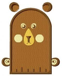 Bear glove embroidery design