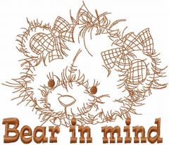 Bear in mind embroidery design