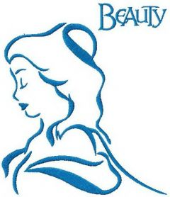Beauty sketch embroidery design