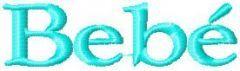 Bebe Logo embroidery design