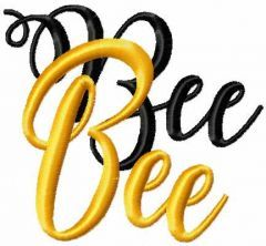 Bee bee embroidery design