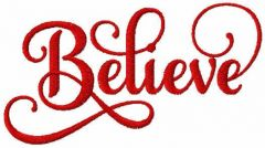 Believe free embroidery design