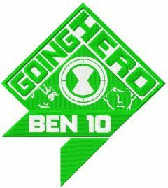 Ben 10 Going hero embroidery design