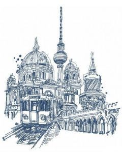 Berlin 2 embroidery design