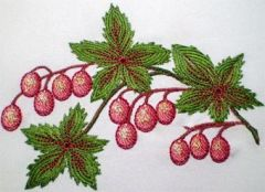 Berries embroidery design 2