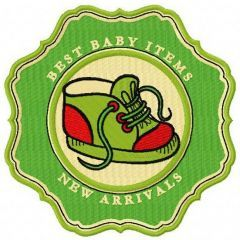 Best baby items New arrivals badge embroidery design