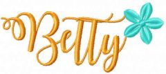 Betty embroidery design