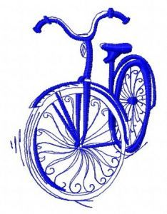 Bicycle machine embroidery design 5