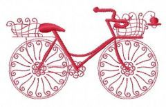 Bicycle machine embroidery design 6