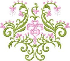 Flowers Panel embroidery design