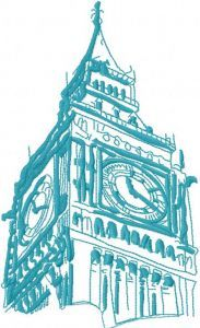 Big Ben embroidery design