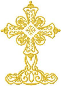 Big cross embroidery design