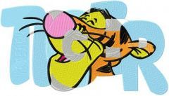 Big Tigger embroidery design